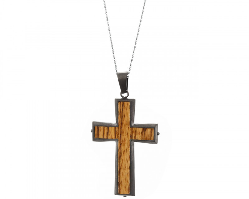 Stainless steel pendant - cross