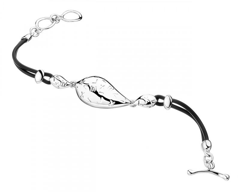Rhodium-Plated Brass Bracelet