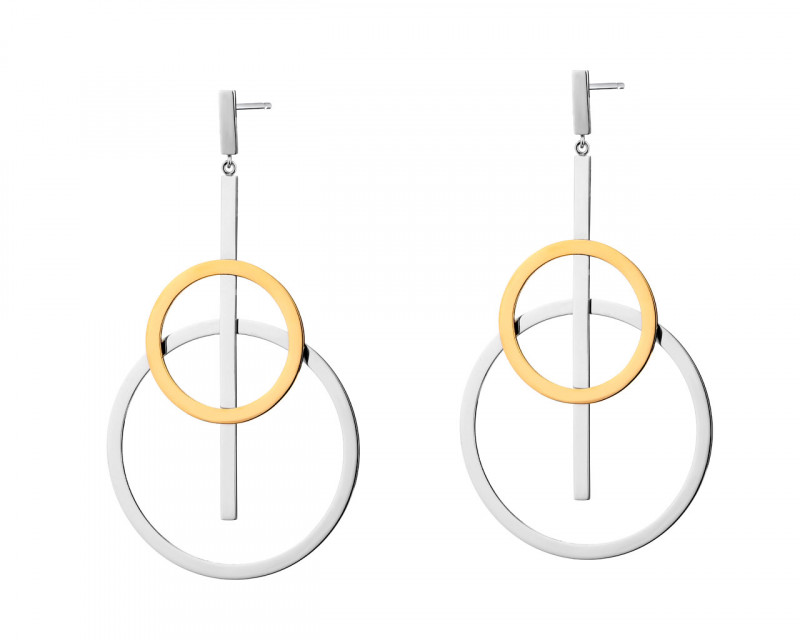 Earrings made of stainless steel - circles