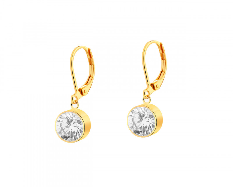 Stainless Steel Earrings with Cubic Zirconia