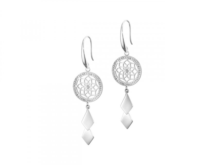 Stainless Steel Earrings with Crystal