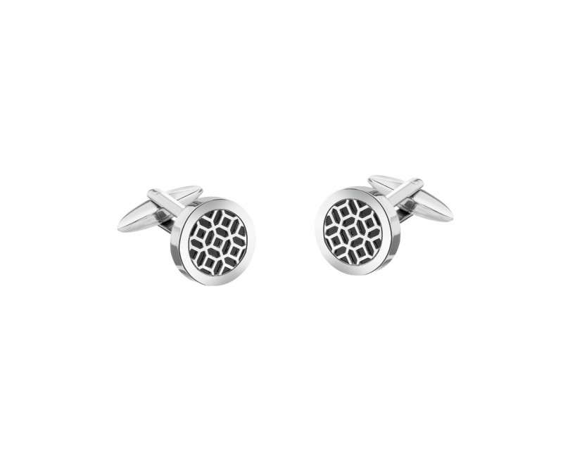 Stainless Steel Cufflink with Onyx