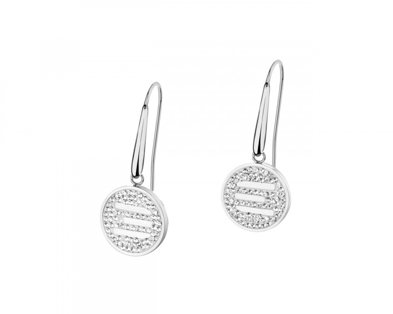 Stainless Steel Earrings with Crystals