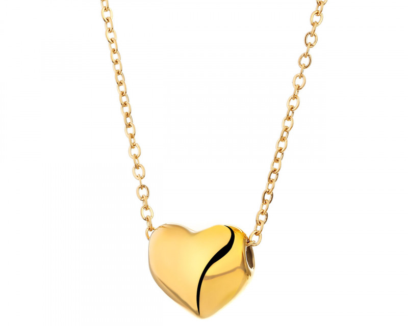 Stainless steel necklace - heart
