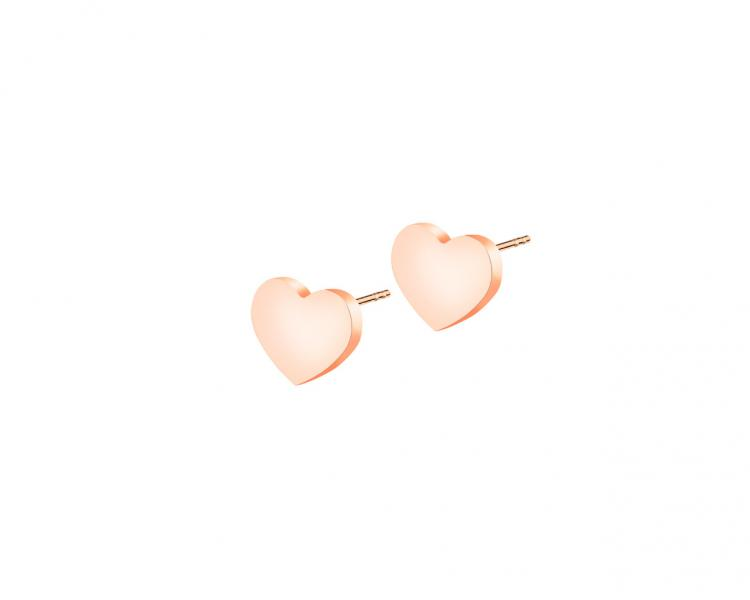 Stainless steel earrings - hearts